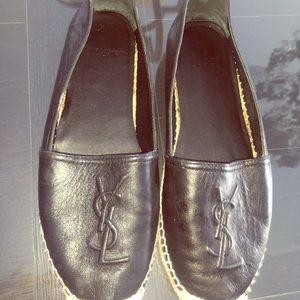 Authentic YSL leather espadrilles